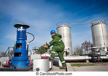 trabalhadores, óleo