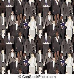trabalhadores escritório, enorme, torcida