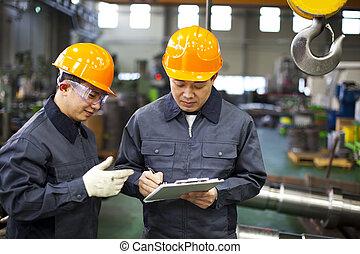 trabalhadores, fábrica