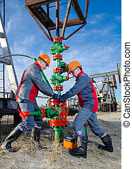 trabalhadores, oilfield