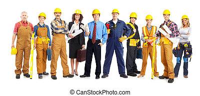 trabalhadores, pessoas