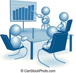trabalhando escritório, figura, símbolo, trabalho, trabalho, vetorial, vara, homem negócios, macho