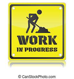 trabalho, isolado, ilustração, único, vetorial, progresso, ícone