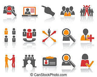 trabalho, jogo, recurso, human, ícones