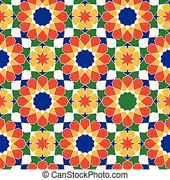 tradicional, árabe, vetorial, pattern.