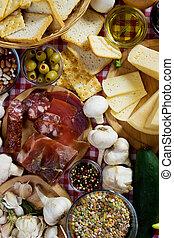 tradicional, alimento, ingredientes
