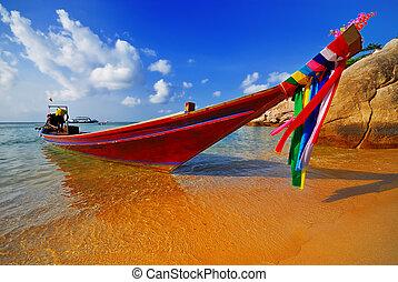 tradicional, tailandês, bote