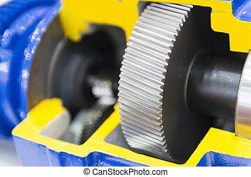 transmissão, car, close-up, gearbox