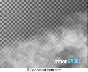 transparente, vetorial, experiência., fumaça