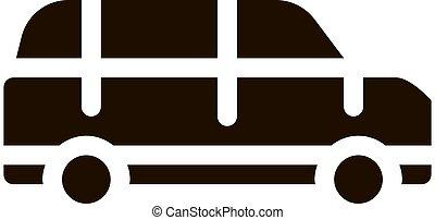 transporte, automóvel, público, vetorial, ícone