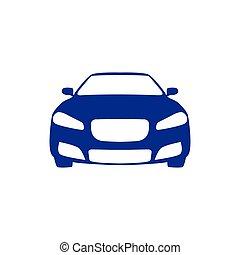 transporte, car, ilustração, vetorial, modelo, icon.