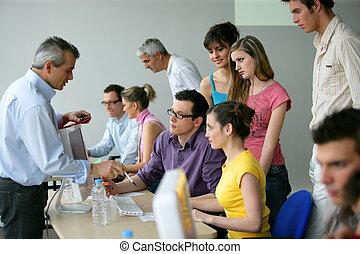 treinamento, educação, businesspeople