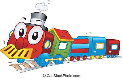 trem brinquedo, mascote