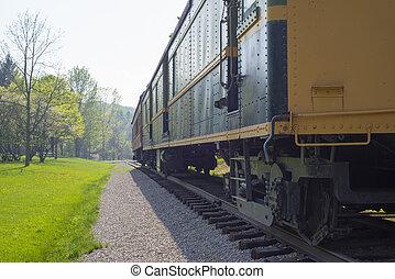 trem vagão, detalhe