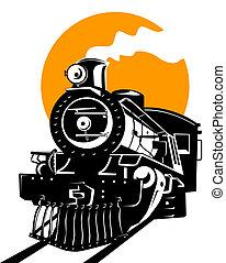 trem, vapor