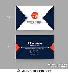 triângulo azul, negócio, projeto moderno abstrato, marinha, cartão
