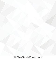 triangles., abstratos, fundo branco, vector.