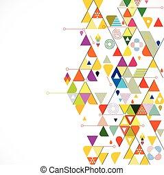 triangulo, coloridos, abstratos, ilustração, criativo, fundo, vetorial