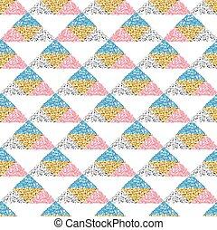 triangulo, coloridos, padrão, seamless, fundo, brilhar