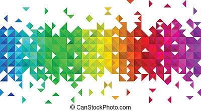 triangulo, mosaico, fundo