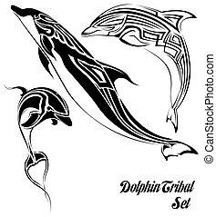 tribal, golfinho, jogo