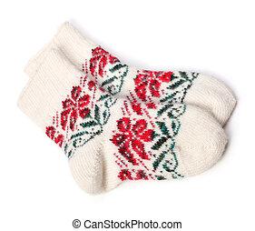tricotado, inverno, meias, woolen