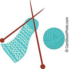 tricotando, material