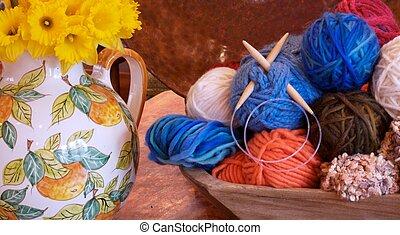 tricote, daffodills