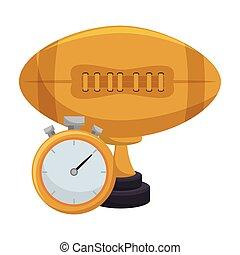 troféu, futebol americano, distinção
