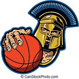 trojan, basquetebol, mascote