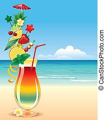 tropicais, cocktai