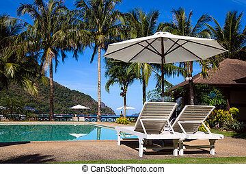 tropicais, el, filipinas, praia, nido