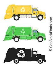 truck., lixo