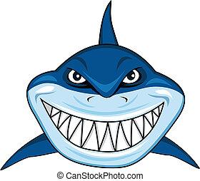 tubarão, sorrindo