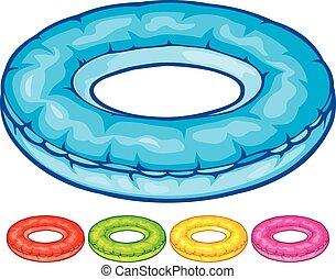 tubo interno, inflável
