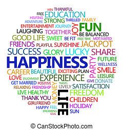 tudo, aproximadamente, felicidade