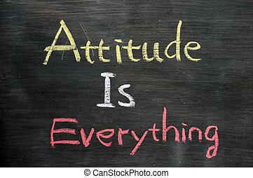 tudo, atitude