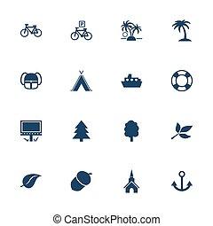 turismo, lazer, ícones