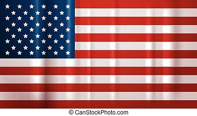 unidas, eua, símbolo, estados, bandeira, américa, bandeira, nacional