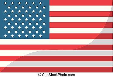 unidas, eua, símbolo, estados, bandeira, américa