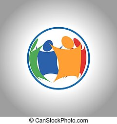 unificado, agrupe, pessoas