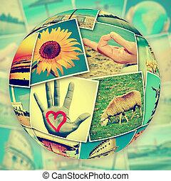 uploaded, diferente, tiro, paisagens, lugares, myself, parede, quadros, instantâneos, serviços sociais, networking, mosaico, simular
