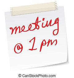 urgente, reunião