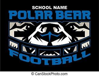 urso polar, futebol