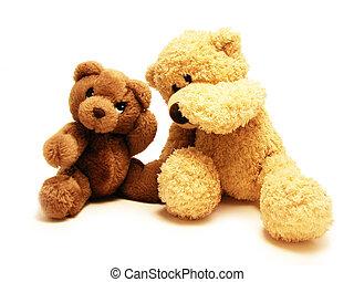 ursos, pelúcia, amigos