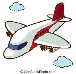 vôo céu, avião