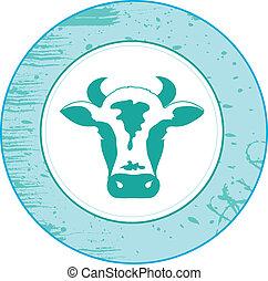vaca, ícone