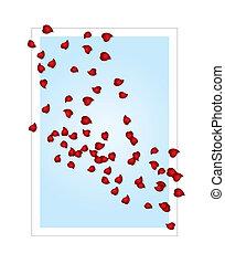 valentine, cartão, (vector)