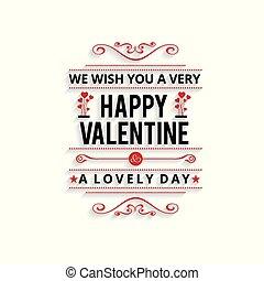 valentine, muito, desejo, vetorial, tu, cartão, feliz
