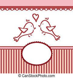 valentine, saudações, modelo, casório, ou, cartão